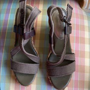 Olive green espadrille Sandals